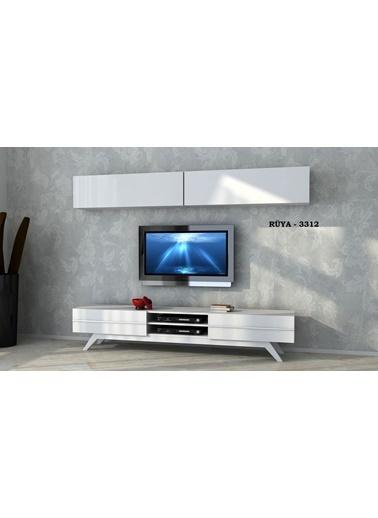Sanal Mobilya Rüya 1233 Tv Ünitesi Beyaz Beyaz